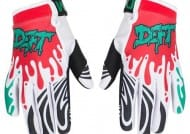 DEFT EQVLNT SLIME RED/TEAL KIDS GLOVES